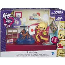 my little pony equestria girls minis applejack slumber party games