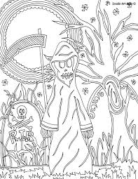 monster coloring pages doodle art alley