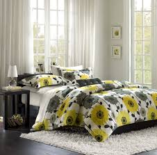 Gray Bedroom Decorating Ideas Bedroom Grey White And Yellow Bedding Stunning Yellow And Gray