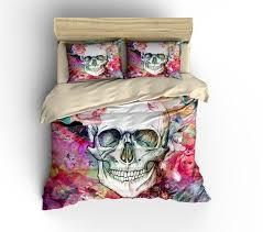 Pink Rose Duvet Cover Set 73 Best Skull Bedding Images On Pinterest Sugar Skulls Duvet