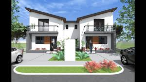 modern small duplex house design 3 bedroom two designs and floor