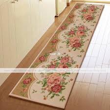 yevita peony blossom extra long kitchen runner rug home floor door