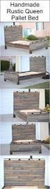 Homemade Wooden Beds Best 25 Wood Bed Frame Queen Ideas On Pinterest Diy Queen Bed