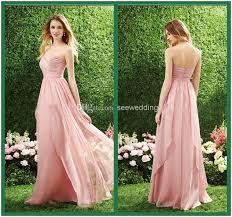 flowy bridesmaid dresses 2016 flowy chiffon bridesmaid dresses empire waist pleated