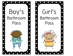Bathroom Pass Template Fishyrobb