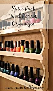 curb alert spice rack nail polish organizer