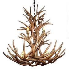 Antler Chandelier Canada Shop Canadian Antler Design Reproduction Mule Deer 12 Light