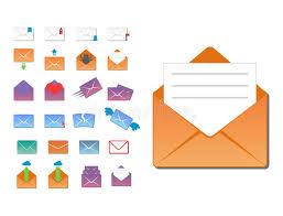adresse bureau la communication d icônes de couverture d enveloppe d email et l