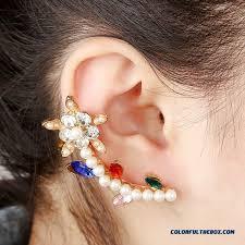 creative earrings cheap creative pearl ear jewelry large earrings plum diamond ear