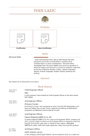 Sample Correctional Officer Resume by Chief Engineer Resume Samples Visualcv Resume Samples Database
