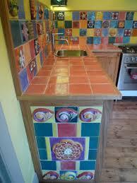 Tiled Kitchen Worktops - the tudor kitchen the ceramic house my public art world