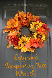 fall wreaths easy and inexpensive fall wreath