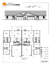 1954 r duplex spokane house plans