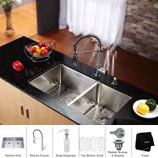 kitchen faucet and sink combo faucet com khu103 33 kpf1612 ksd30ch in stainless steel chrome