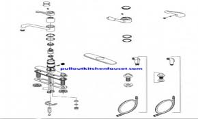 moen single handle kitchen faucet repair diagram amazing design