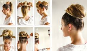 Hochsteckfrisurenen F Lange Glatte Haare by Voluminöser Chignon Bilder Madame De