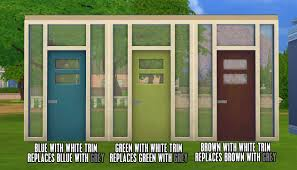 mod the sims color overhaul for modern maxis door