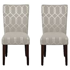 Dining Wood Chairs Parson Dining Chair Wood Gray Lattice Set Of 2 Homepop Target