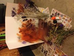 Make Purple Paint Make A Weed Bouquet And Spray Paint Various Weeds Purple Orange