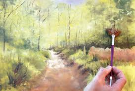 fan brush oil painting painting with oil paints woodland scenes how to artists