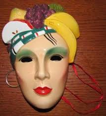mardi gras wall masks beautiful vintage mime ceramic decorative wall mask mardi