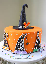 Halloween Cakes Easy To Make by Witch Hats A Halloween Cake Decorating Tutorial My Cake