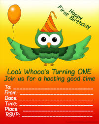 first birthday party invitations free and ready to print 1st