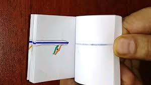Flag Book How To Make A Flip Book Animation In Indian Flag Youtube
