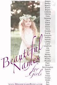 boho and flower child names for a bloomers and bows