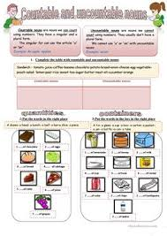 22 free esl countable and uncountable nouns worksheets for upper