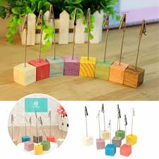 Table Card Holders by 8pcs Wooden Place Card Holders Wedding Office Meeting Table