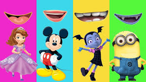 wrong mouth vampirina sofia first mickey mouse minions colors