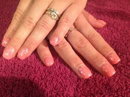 harmony gel nail extensions with depend gellack and glitter