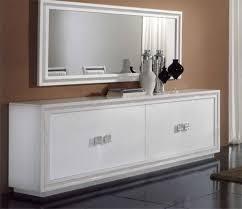Dressoir Blanc Laque by Bahut A Portes Coloris Blanc Et Beige Indogate Com Meuble Bas