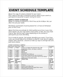 sample event timetable template 6 free documents download