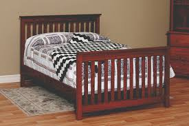 Crib To Bed Outstanding Convertible Cribs Amish Custom Furniture Inside Crib