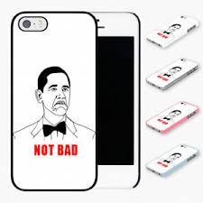 Not Bad Meme Obama - not bad obama meme hard phone case cover fits iphone models ebay