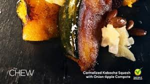 caramelized kabocha squash with apple compote recipe the