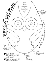 owl cut out patterns patterns kid