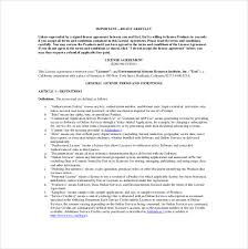 13 license agreement templates u2013 free sample example format
