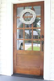 Wood Exterior Door Our New Front Door Stained Wood With White