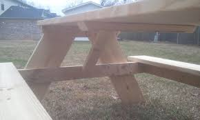Building A Wood Picnic Table by How To Build A 6 Foot Picnic Table Jays Custom Creations