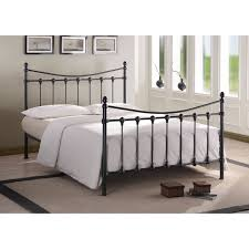 bedroom furniture iron rod bed iron bed with storage white