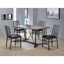 acme furniture jodie rustic oak water resistant dining table 71995