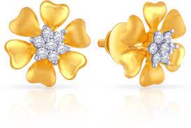 malabar diamond earrings malabar gold and diamonds mhaaaaaamaio 22 k cubic zirconia gold