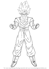 learn how to draw goku super saiyan from dragon ball z dragon