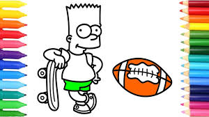 coloring pages play sports how to draw sports for the simpsons