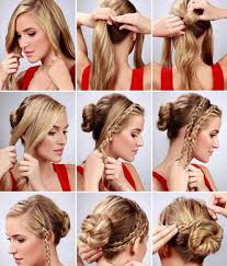 do it yourself hair cuts for women simple diy braided bun puff hairstyles pictorial tutorial for