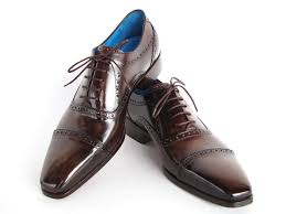 paul parkman cap toe oxford brown leather lloyd hall bespoke tailors