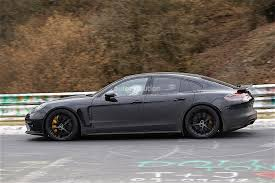 convertible porsche panamera 2017 porsche panamera spied while testing at the nurburgring